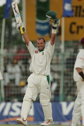 April 4, 2005: Jacques Kallis celebrates his 21st Test century against the West Indies in Georgetown. (Gallo Image)