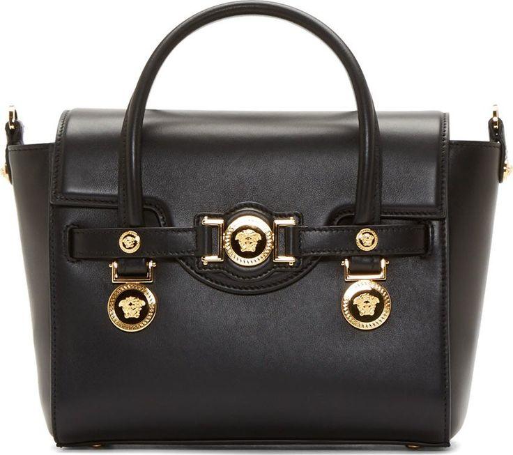 medium Medusa Medal leather shoulder bag - Black Versace cVPVCrCj