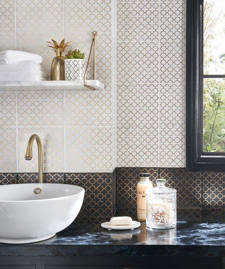 Oparo Onyx Arabesque Tile Arabesque Tile Topps Tiles Tiles
