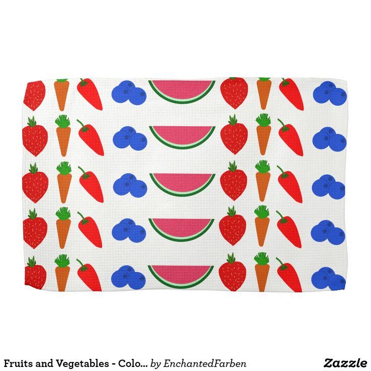 Fruits and Vegetables - Colorful Drawing