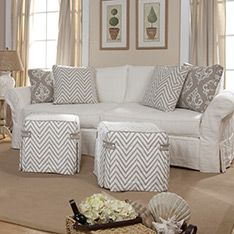 Hauser Slipcovers - Customize the perfect sofa for your space.  #HAUSER #SLIPCOVER