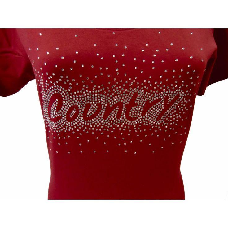Ladies Linedance T Shirt With Rhinestones (1000×