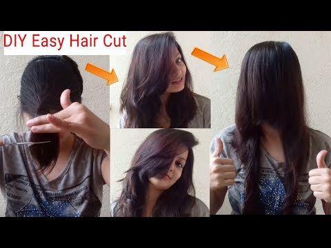 DIY Face Framing Hair Cut|Hair Cut At Home|AlwaysPrettyUseful By PC - YouTube