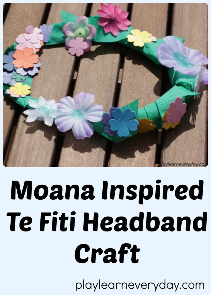 A fun and easy to make flower headband like the one that Te Fiti wears in the movie Moana.