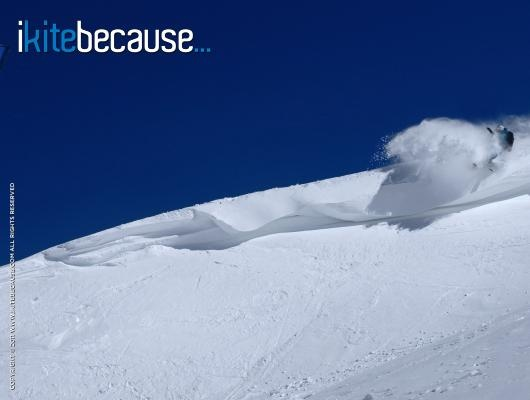 ikitebecause... I love frozen waves! | Photo: Jerome Josserand | http://www.ikitebecause.com/user/jerome