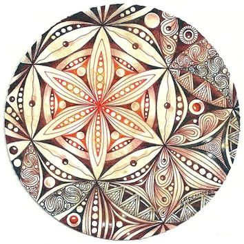 Enthusiastic Artist, Margaret Bremner: Flower of Life Love the off centeredness