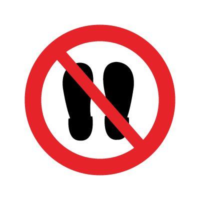 Sko forbudt skilt - Køb forbudsskilte online hos JO Safety
