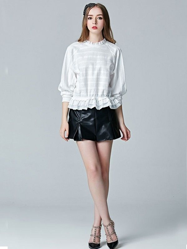 Relaxfeel Women's Black Pu Leather Shorts - New In -Leather fabrics,can wear a new style.