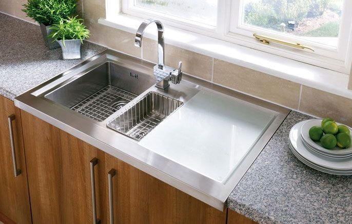 Clean Modern Astracast Bistro 1 5 Bowl Kitchen Sink Http Www Sinks Taps Com Item 7652 Bistro 1 5 Sit On Sink With Free Accessories Aspx Pinterest