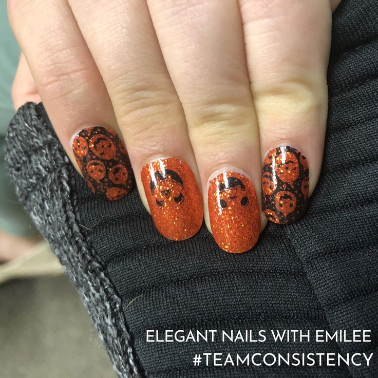 Halloween ready Nails, Pumpkin and Glitter! Color Street ...