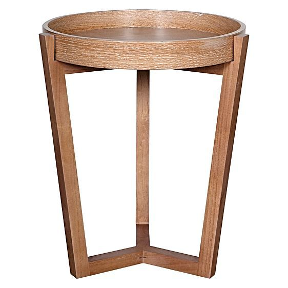 Veneer Wooden Side Table by Soundslike HOME