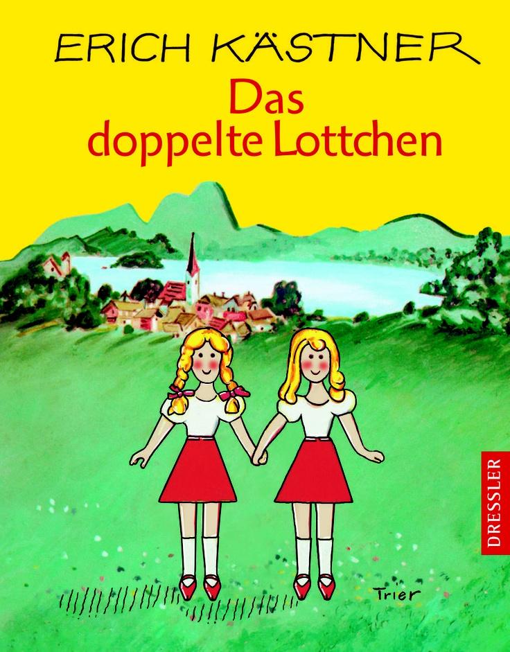 """""""Das doppelte Lottchen"""" von Erich #Kaestner - Titelbild und illusTRIERt von Walter #Trier - Cecilie #Dressler Verlag"""