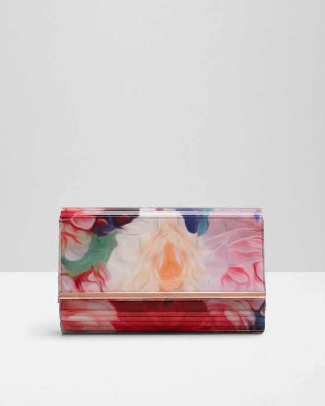 Floral Swirl resin clutch bag - Fuchsia | Bags | Ted Baker