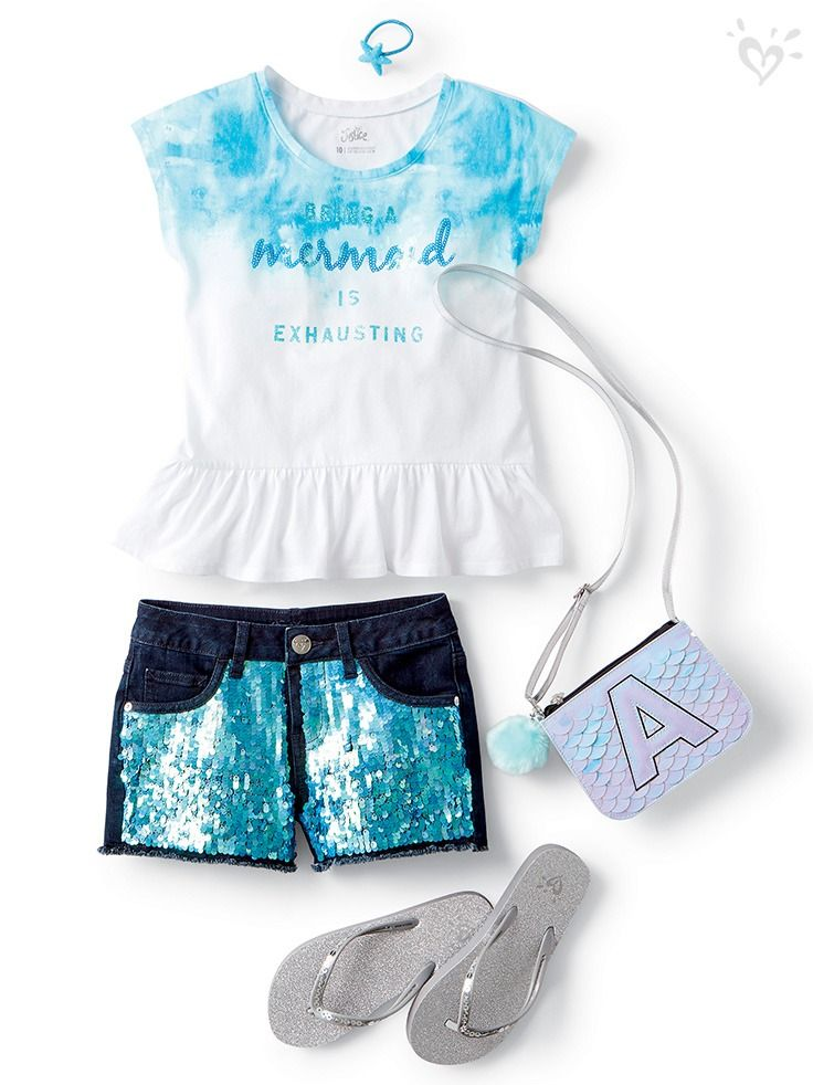 New and now embellished shorts with made-you-look  air.