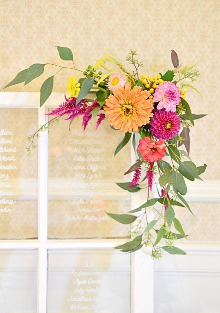 Photo & Flowers: Koko Floral Design  #ウェディング#カラフル #夏#席次表 #diy