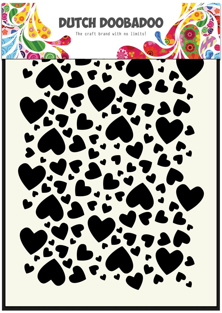 470.715.038 Dutch Doobadoo Dutch Mask Art Hearts