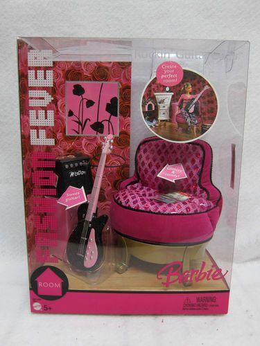 Barbie Fashion Fever Rocking Guitar Chair Furniture Set Accessories 2005   eBay