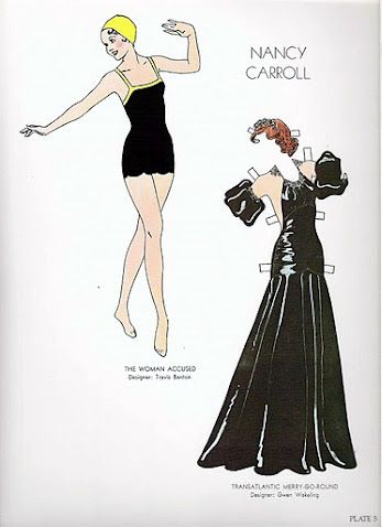 Glamorous Movie Stars of the Thirties Paper Dolls by Tom Tierney - Dover Publications, Inc.,1994: Page 5 (of 16)
