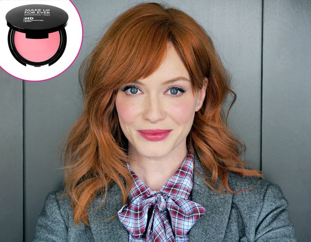 """Christina Hendricks: Beauty Must: Make Up For Ever HD Blush in Shade #210  """"My makeup introduced me to the HD Blush, and I love it. It melts into my skin, leaving the perfect flush,"""" the Mad Men beauty tells Us Weekly. ($26, sephora.com)"""