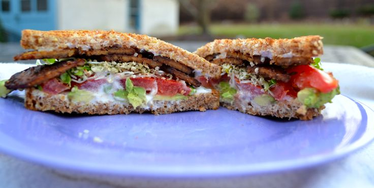 Avocado BLT with Maple Tempeh Bacon {vegan recipe for MindBodyGreen ...