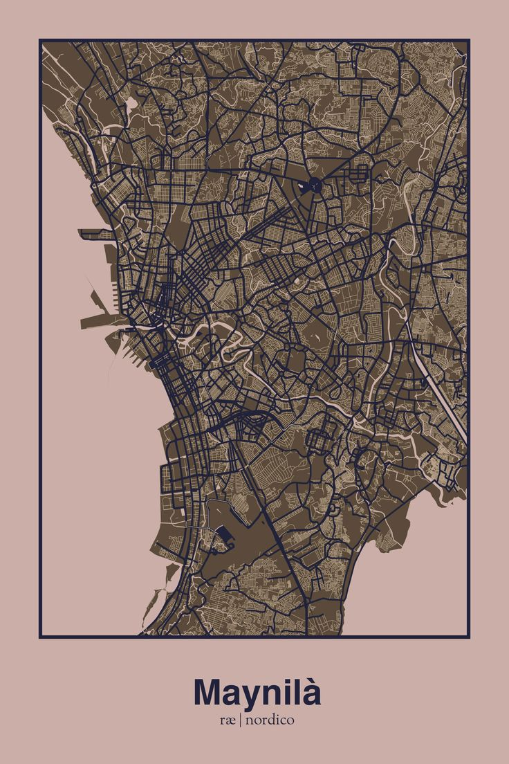 Manila Philippines Map Print 250 best maps
