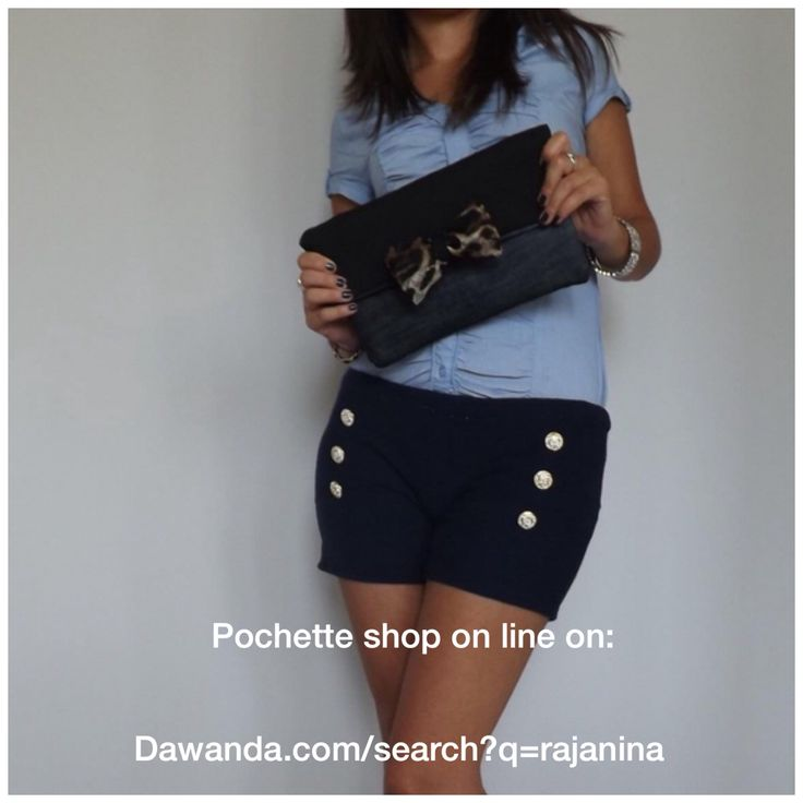 Shop online http://it.dawanda.com/search?q=Rajanina #pochette #bag #bags #outfit #look #fashion #denim #leopard