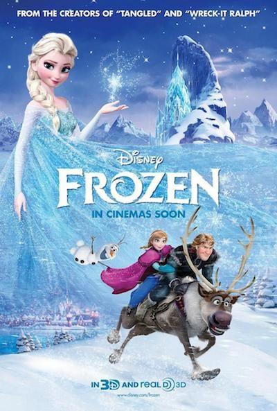Frozen: el reino del hielo, ninguna de sus canciones es destacable y los momentos cantados quedan forzados debido a unas melodías pobres.