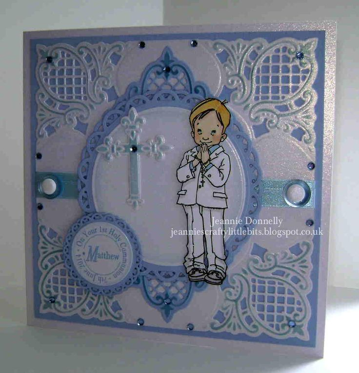 2014 - 1st Holy Communion for a little boy - #Mo Manning image, #Marianne and #Spellbinders Dies