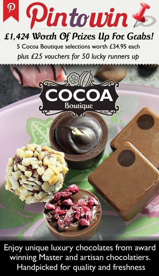 Win a selection of #cocoaboutique luxury chocolates