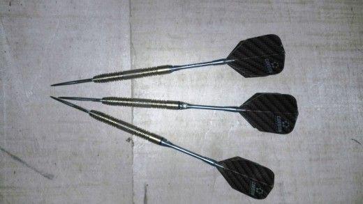 My trusty Van Barneveld Hero Gold Titanium darts!