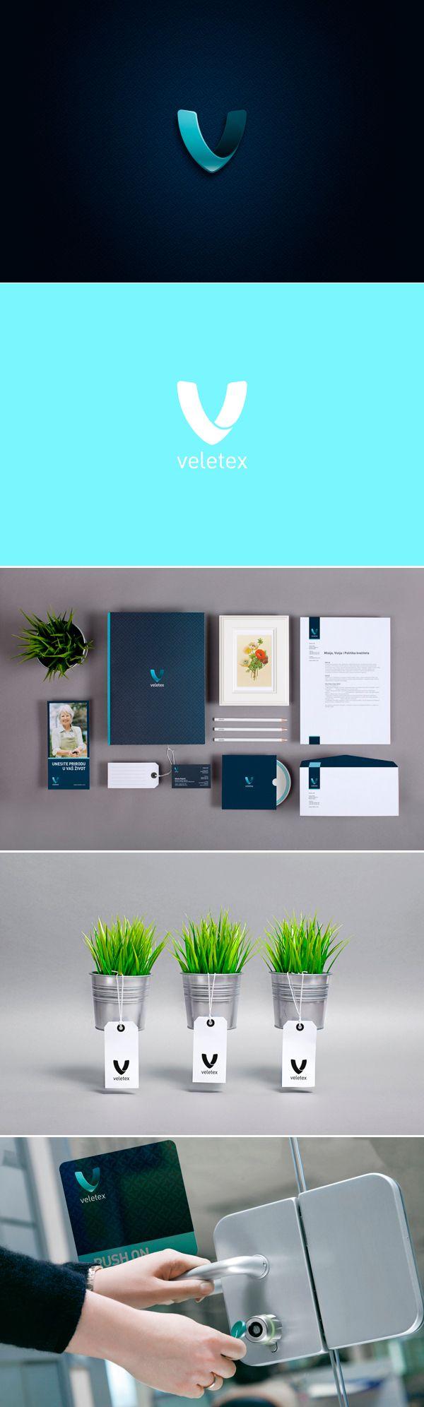 identity / Veletex | #stationary #corporate #design #corporatedesign #identity #branding #marketing < repinned by www.BlickeDeeler.de | Take a look at www.LogoGestaltung-Hamburg.de
