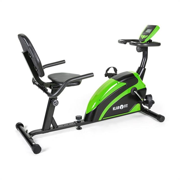 Klarfit Relaxbike 5G Recumbent Exercise Bike 100kg max. Green Black: Click to enlarge image!