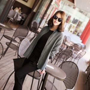 Republic of Korea reigning Women's Clothing Store [CANMART] Outer zipper shirt / Size : FREE / Price : 44.77 USD #korea #fashion #style #fashionshop #apperal #koreashop #missy #canmart #top #blose #shirts #zippershirts #zipper #dailyitem