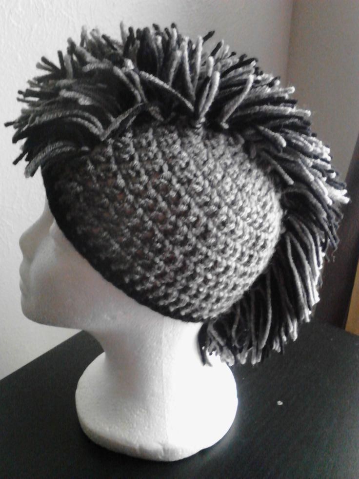 Kids Mohawk Crochet Hat