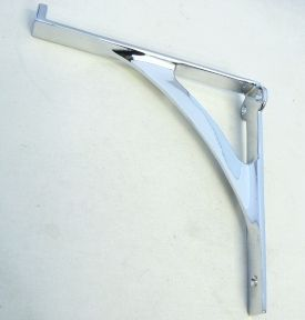 shelf bracket for glass shelves chrome