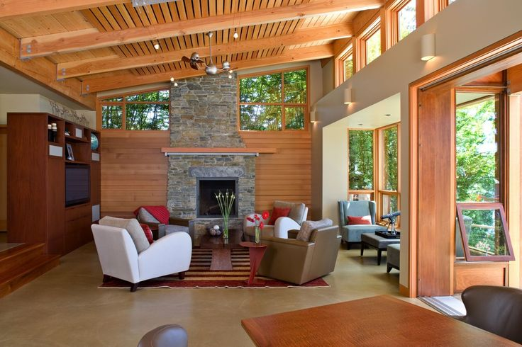 This living room, completed by Bender Custom Construction, evokes elegance and warmth. #luxePNW