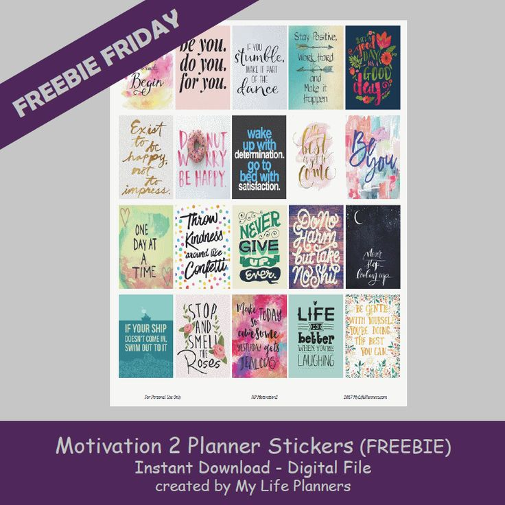 I hope 2017 is being good to you and all of your new changes and resolutions are going strong. It seems like everyone is gung-ho for their resolutions and after a few days or weeks, the energy starts to fizzle. This week's Freebie Friday is Motivation Planner Quotes. Hopefully this will keep you geared upRead More