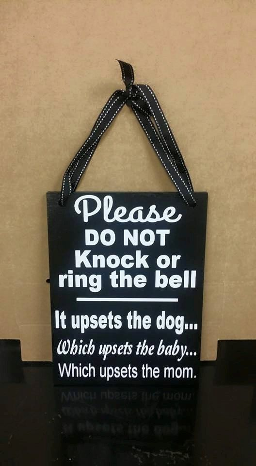 Please Do Not Knock or Ring the Bell No by WordArtTreasures