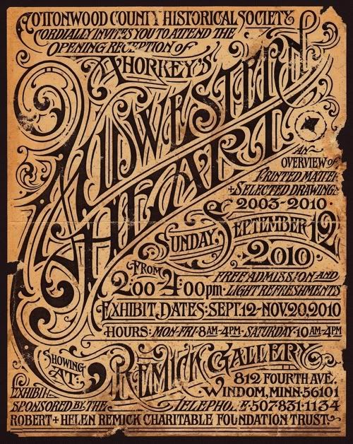 Aaron Horkey's Solo Show poster