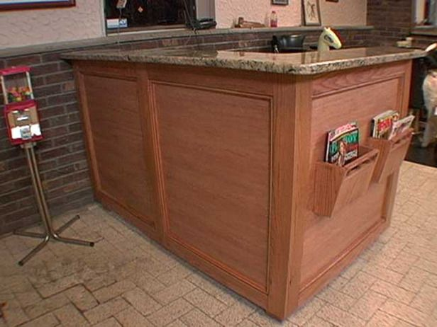 How to build a glass bottle chandelier reception desks for Build your own wall mounted desk