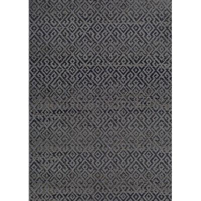 Trent Austin Design Wellington Pavers Black/Gray Indoor/Outdoor Area Rug Rug Size: