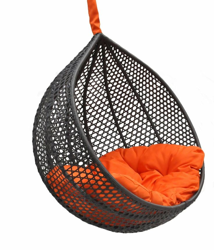 Amazon.com - Ravelo - Vibrant Look Porch Hanging Chair With Stand - PE-03BK(Y9104BK)