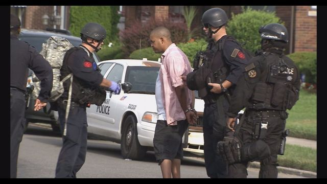 A fight between an ex-boyfriend and girlfriend turns into a barricaded situation on Detroit's east side.
