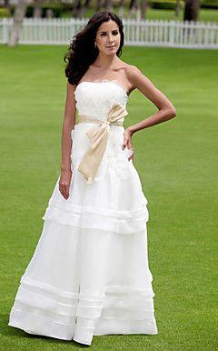 LATONIA - Vestido de Noiva em Organza e Cetim – BRL R$ 597,55