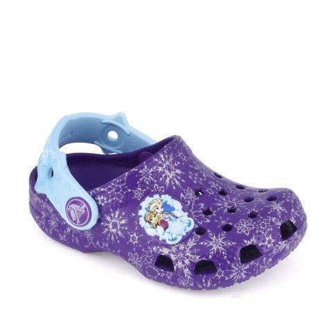 Sandale plaja fete Frozen Clog Neon Purple - Crocs