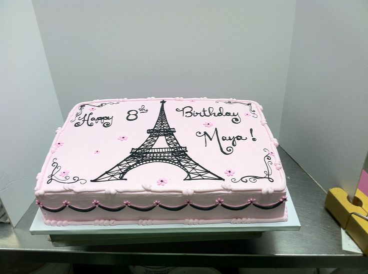Eiffel Tower Stencil Cake Ideas and Designs