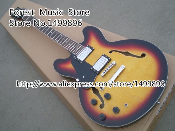 Самые продаваемые старинные солнечные лучи левша эс-335 электрическая китайский джазовой гитары комплектов , доступных