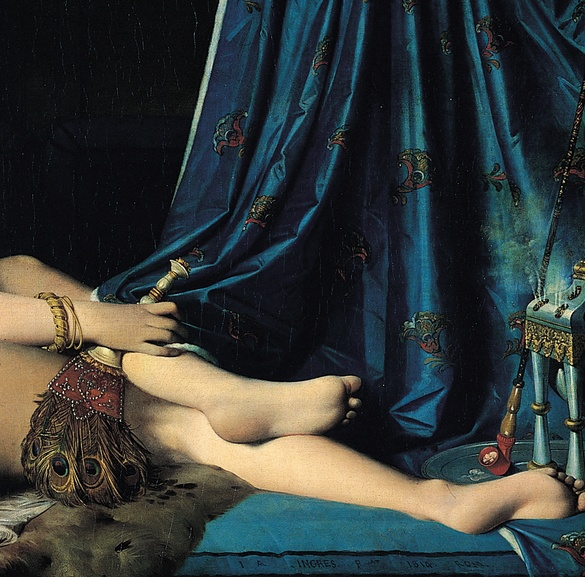 La Grande Odalisque (Detail)/ Ingres