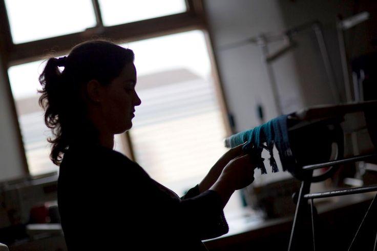 Morning lighting up the Mill | McKernan Woollen Mills | Handmade scarves and accessories | Made in Ireland | Irish Design | Co. Clare | Weaving & Knitting