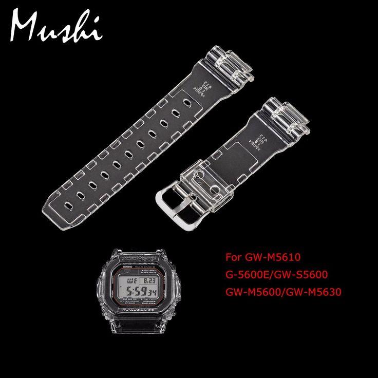 MS時計カシオ5600シリーズGW-M5610 G-5600E GW-S5600透明男性ウォッチバンドピンバックル時計バンド時計ケース+ツール